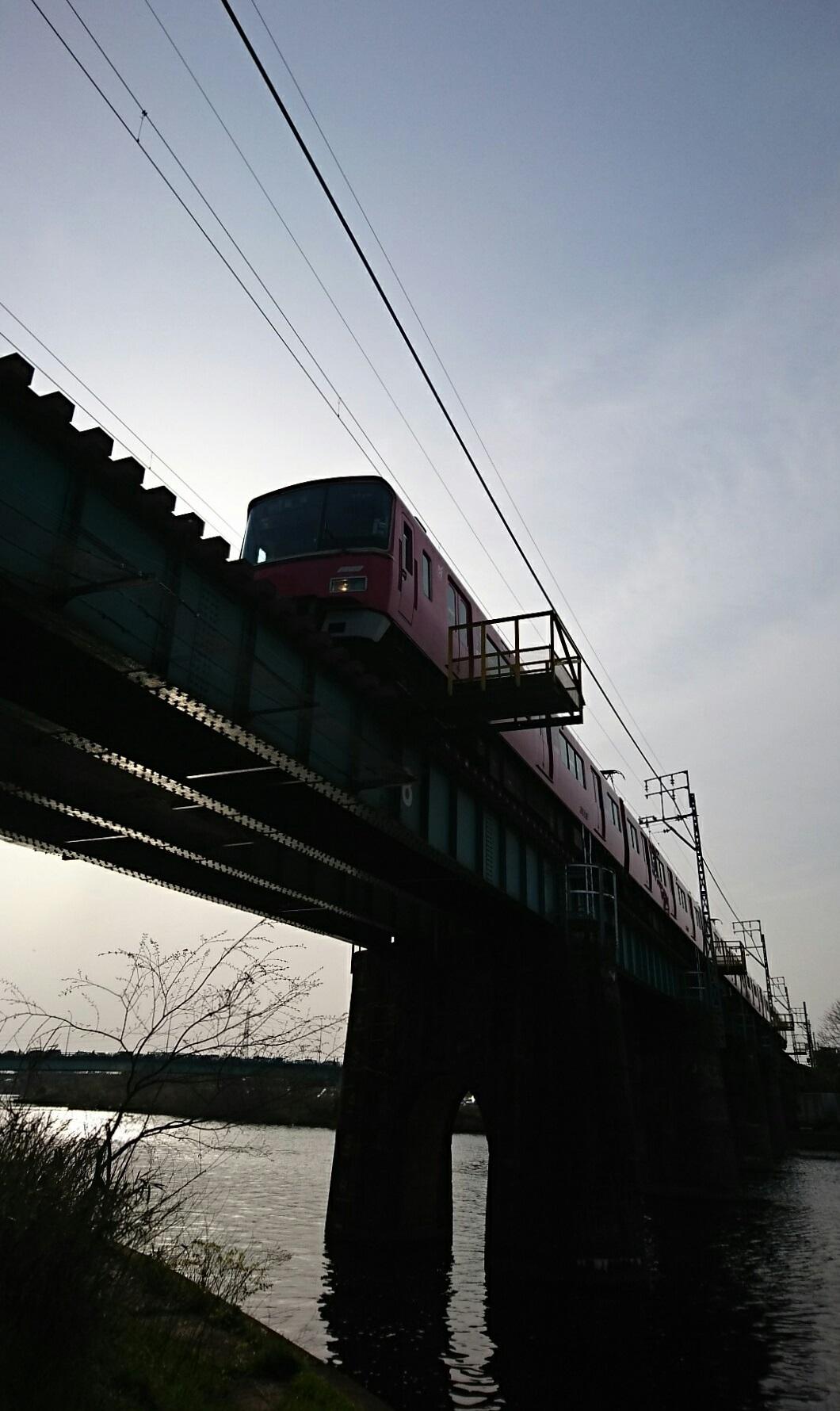 2018.4.1 東岡崎 (20) 菅生川鉄橋 - 豊橋いき急行 1060-1780