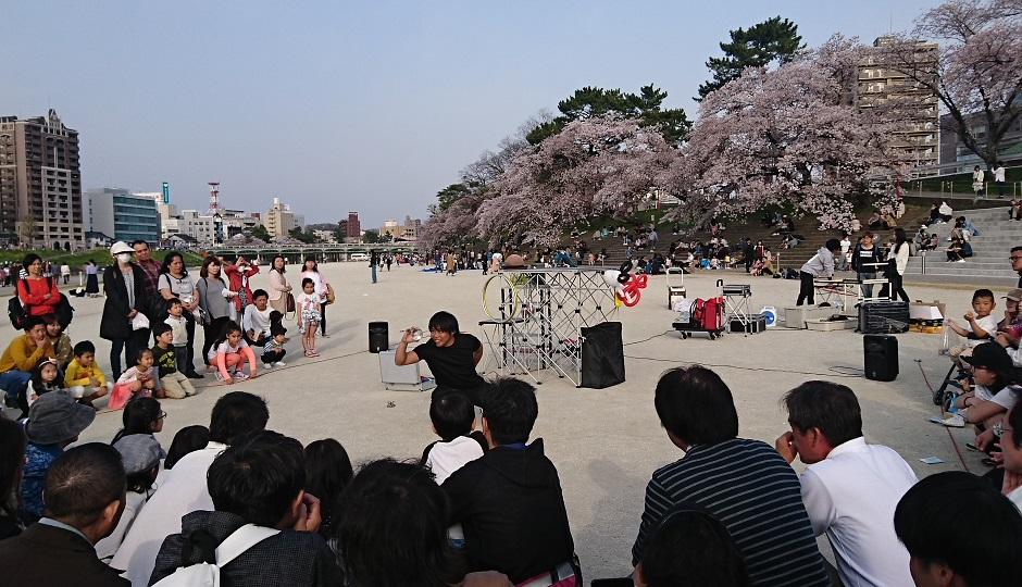 2018.4.1 東岡崎 (22) 菅生川 - 大道芸 940-540