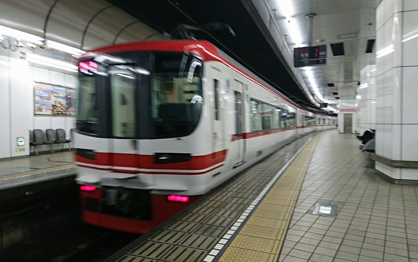 2018.4.3 名古屋 (11) 名古屋 - 岐阜いき特急 860-540