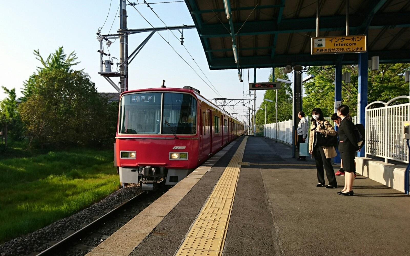 2018.4.20 堀内公園 (7) 堀内公園 - 西尾いきふつう 1600-1000