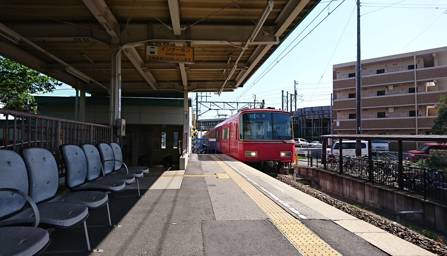2018.4.29 西尾線 (1) 古井 - 佐屋いき急行(4両編成6500系きんぎょばち) 1880-1080