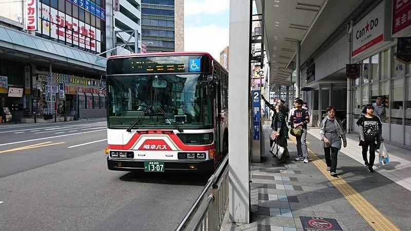 2018.5.4 岐阜 (44) 名鉄岐阜バス停 - 岐阜バス 800-450