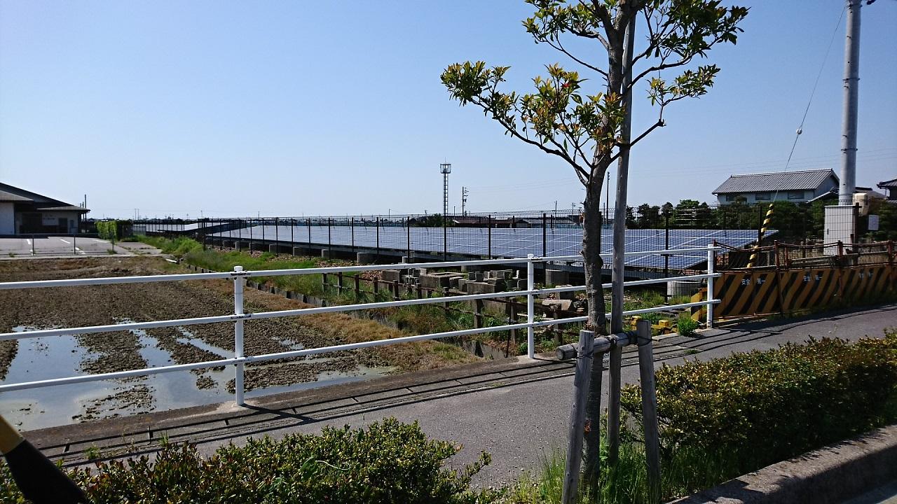 2018.5.5 吉良吉田-松木島間 - ソーラーパネル (1) にし 1280-720