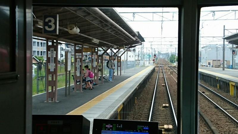 2018.5.6 東岡崎 (10) 東岡崎いきふつう - 矢作橋 800-450