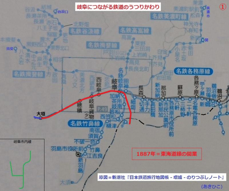 岐阜につながる鉄道のうつりかわり 1.東海道線