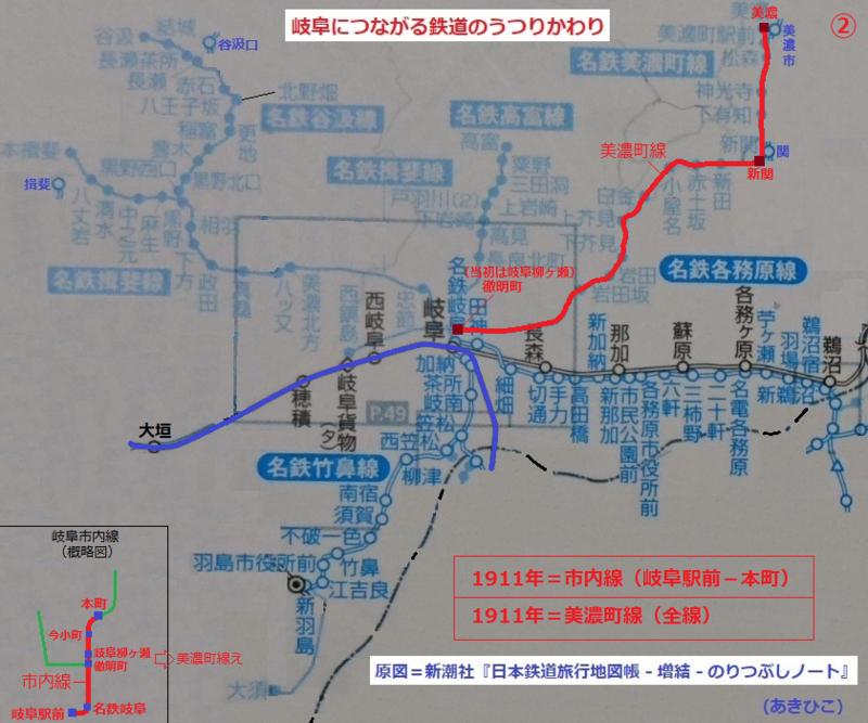 岐阜につながる鉄道のうつりかわり 2.市内線と美濃町線
