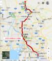 2018-05-16 古井から美濃市までの経路図(あきひこ) 525-610