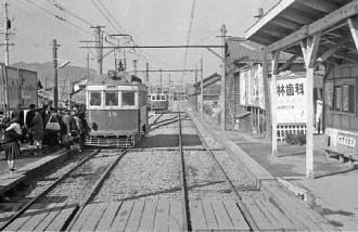 名鉄資料 (9) 長良北町駅 - 1960.3.5