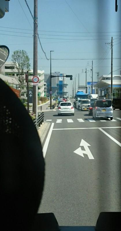 2018.5.25 日進中央線 (18) 箕ノ手交差点を左折 660-1260