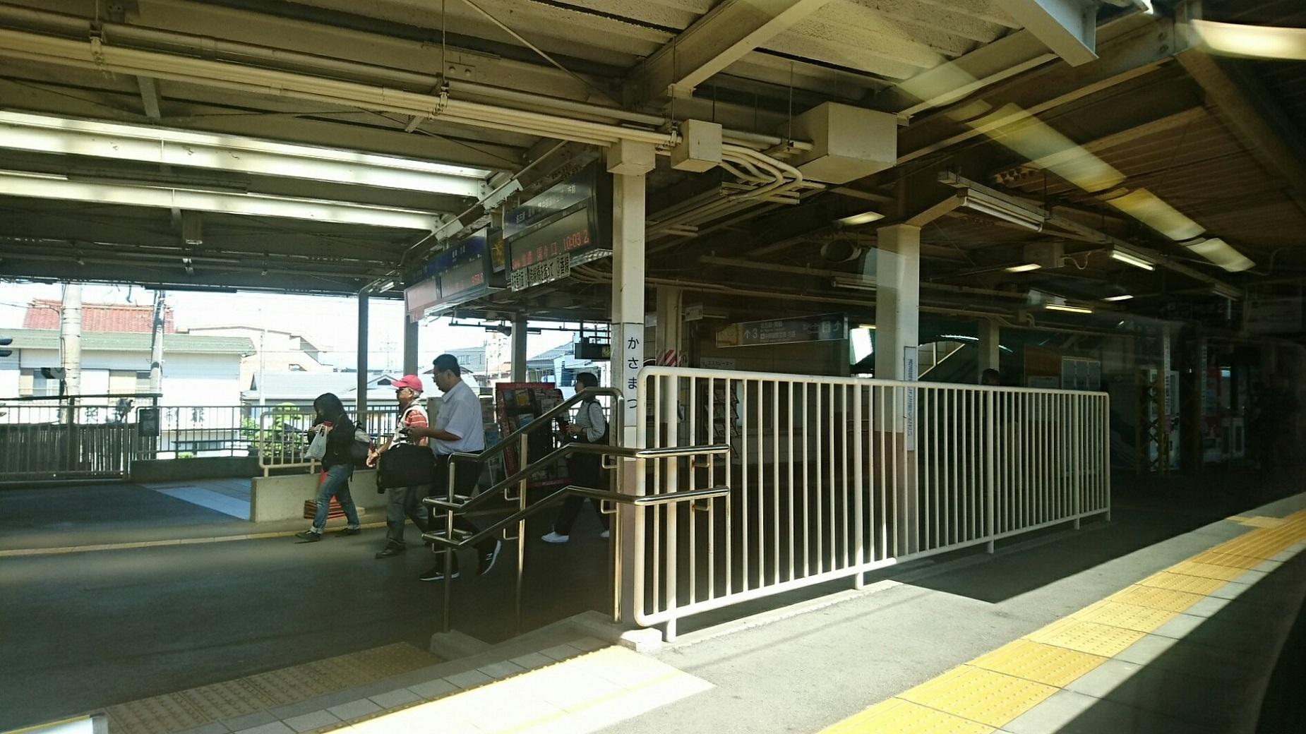 2018.6.1 岐阜 (13) 岐阜いき特急 - 笠松 1850-1040