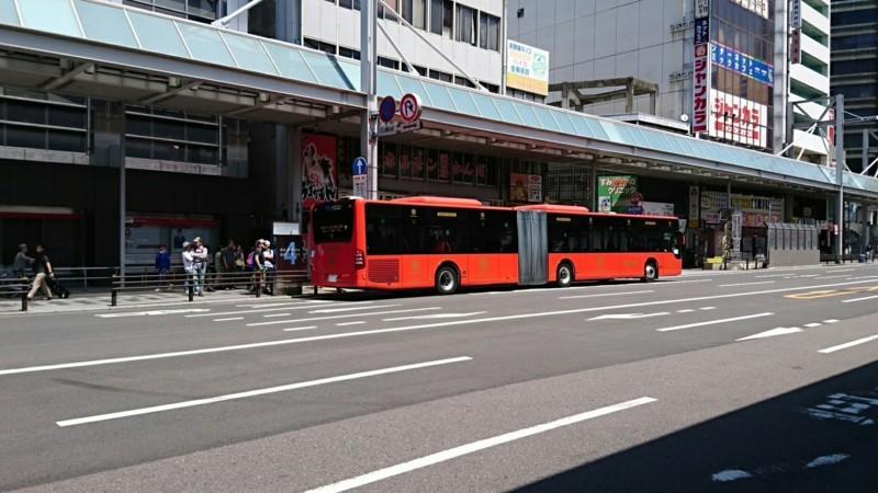 2018.6.1 岐阜 (23) 名鉄岐阜4番のりば - 連接バス 1850-1040