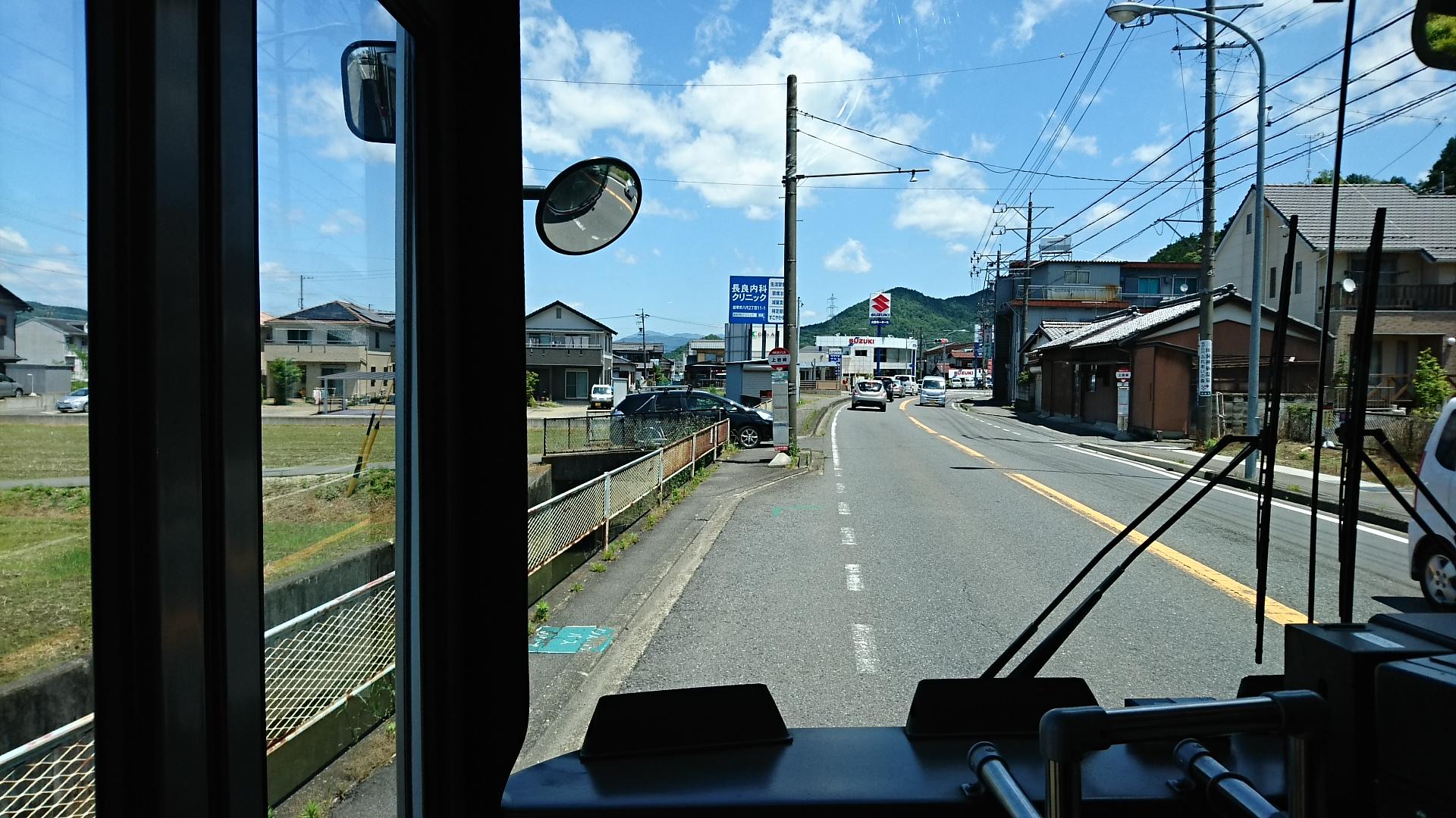 2018.6.1 岐阜 (47) 高富いきバス - 上岩崎バス停 1920-1080