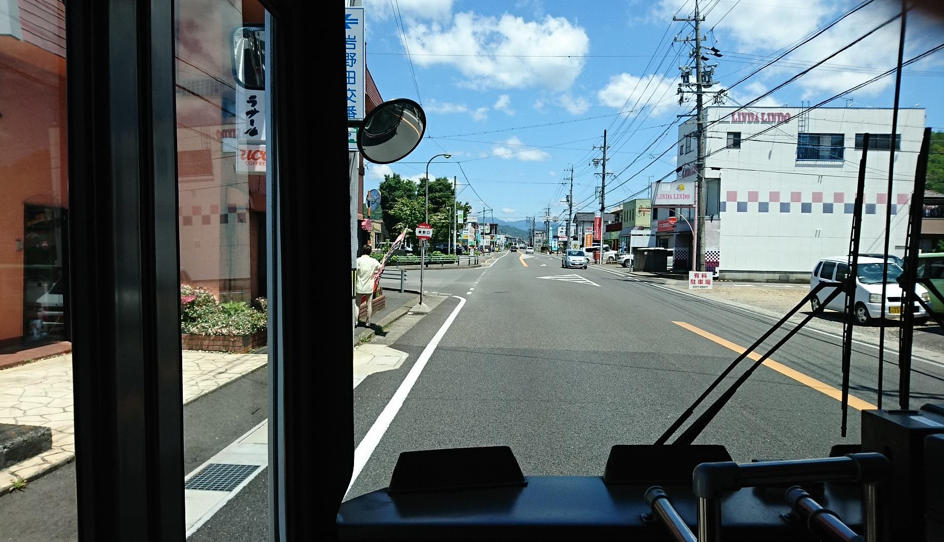 2018.6.1 岐阜 (49) 高富いきバス - 粟野口バス停 1880-1080