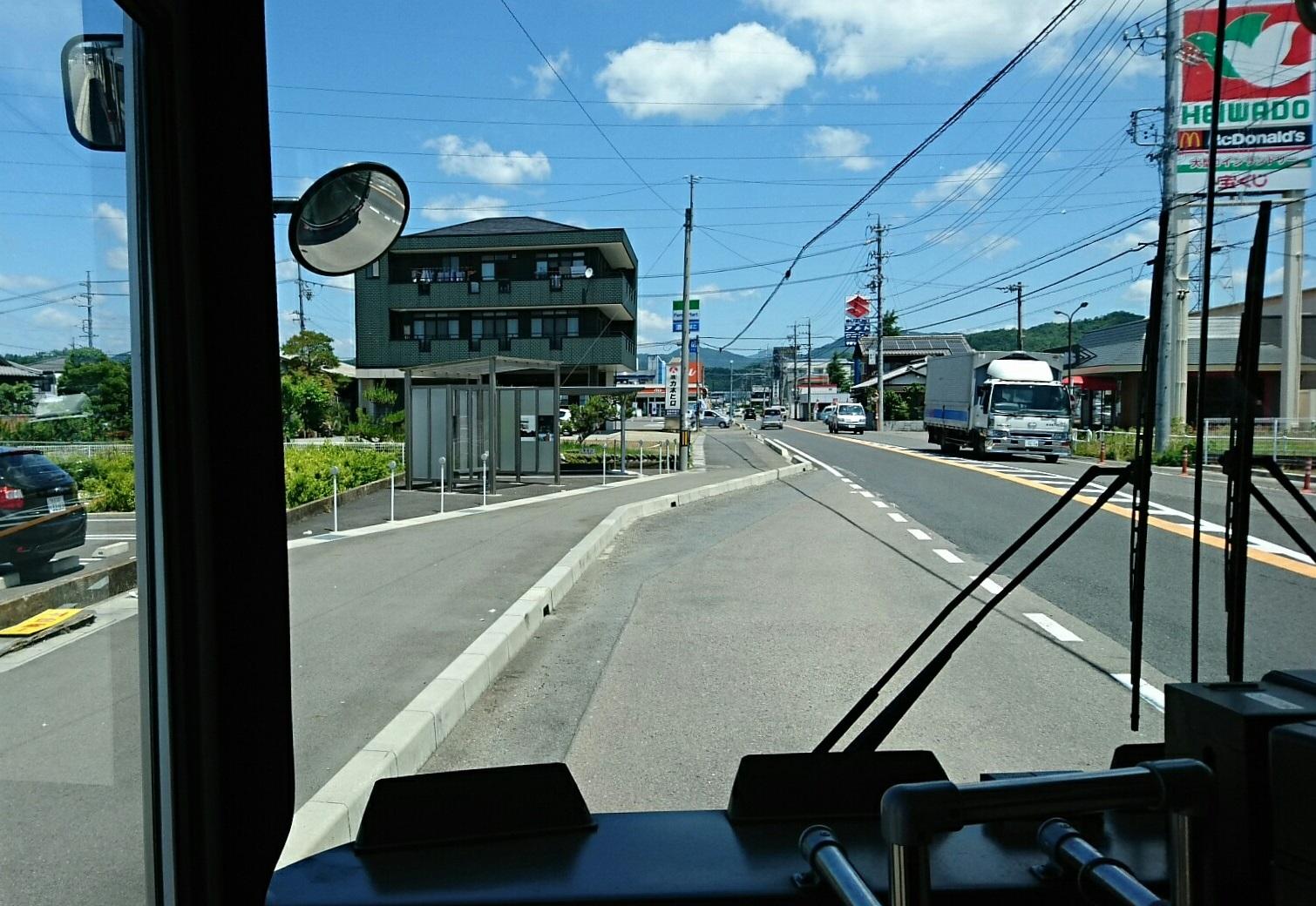 2018.6.1 岐阜 (58) 高富いきバス - 山県警察署前バス停 1510-1040