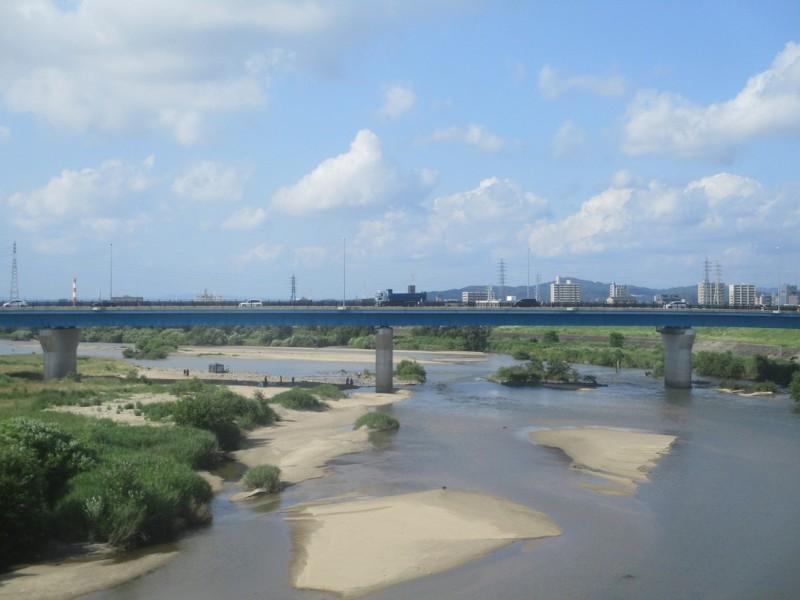 2018.6.16 (2) 東岡崎いきふつう - 矢作川をわたる 1800-1350