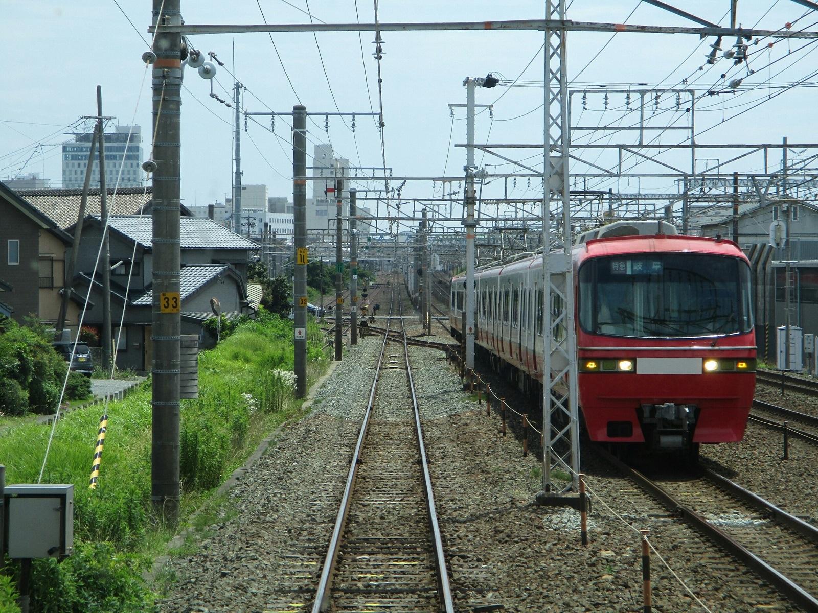 2018.6.19 (51) 豊橋いき急行 - 船町すぎ(岐阜いき特急) 1600-1200