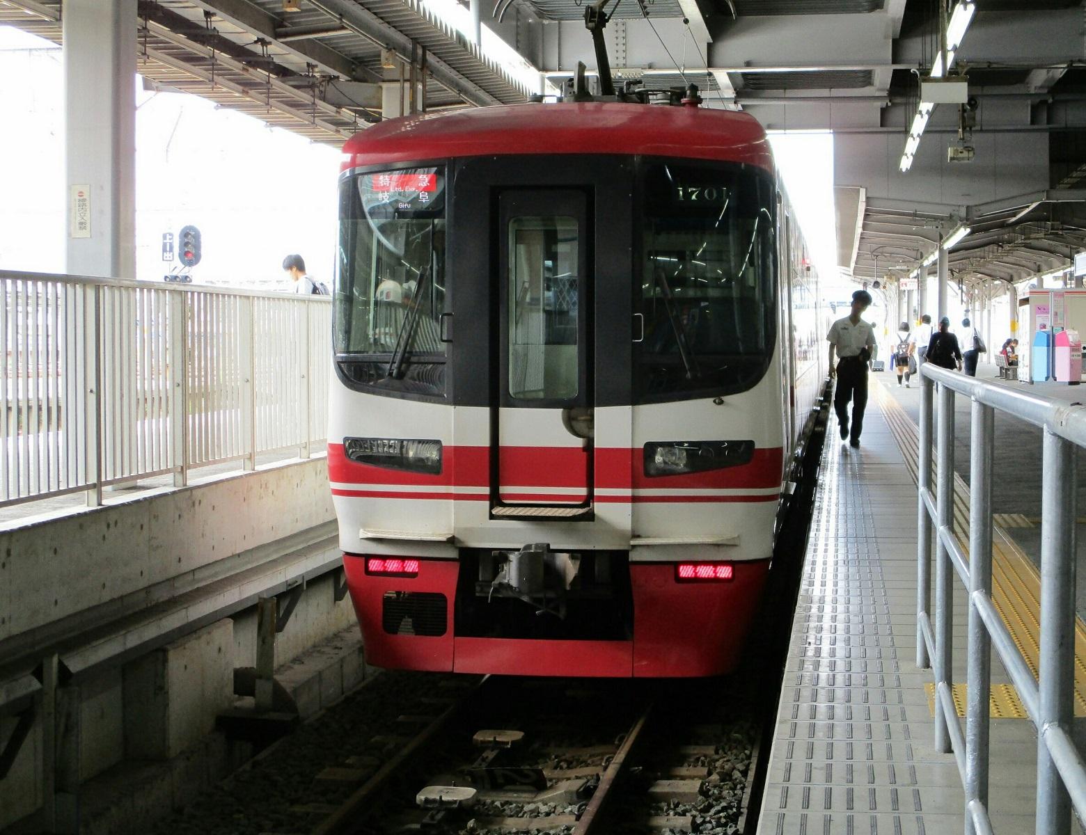 2018.6.19 (55) 豊橋 - 岐阜いき特急(うしろ) 1560-1200