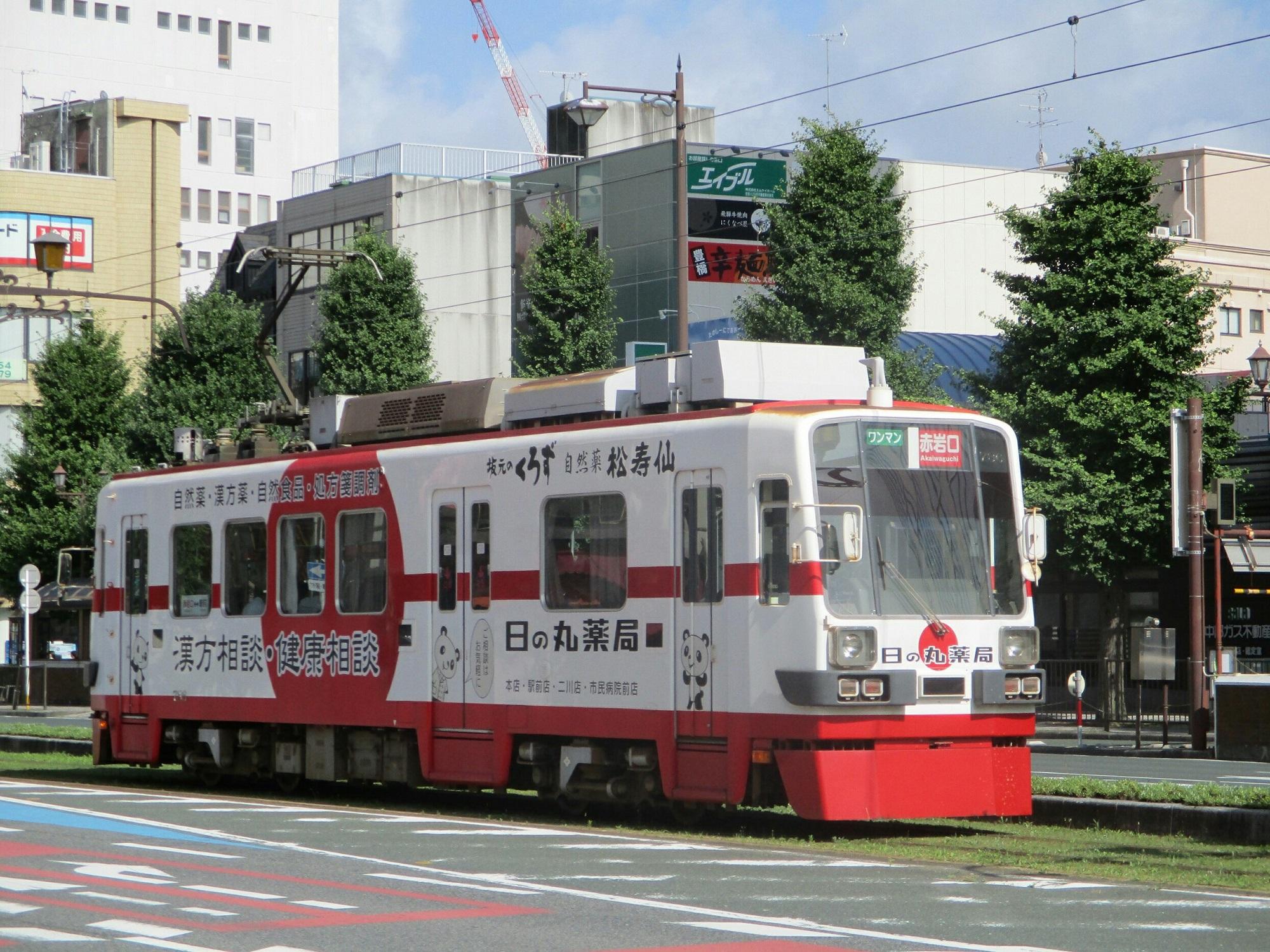 2018.7.1 豊橋 (12) 豊橋 - 市内電車(赤岩口いき) 2000-1500