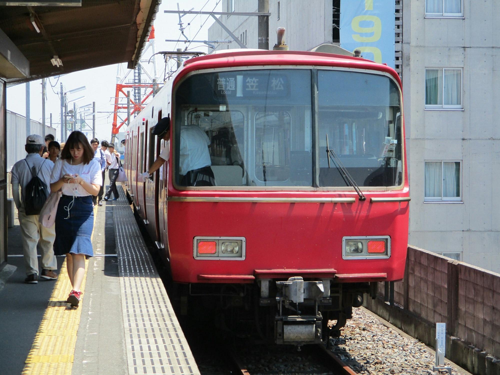 2018.7.18 (103) 新羽島 - 笠松いきふつう(新羽島いきふつうのおりかえし) 2000-1500