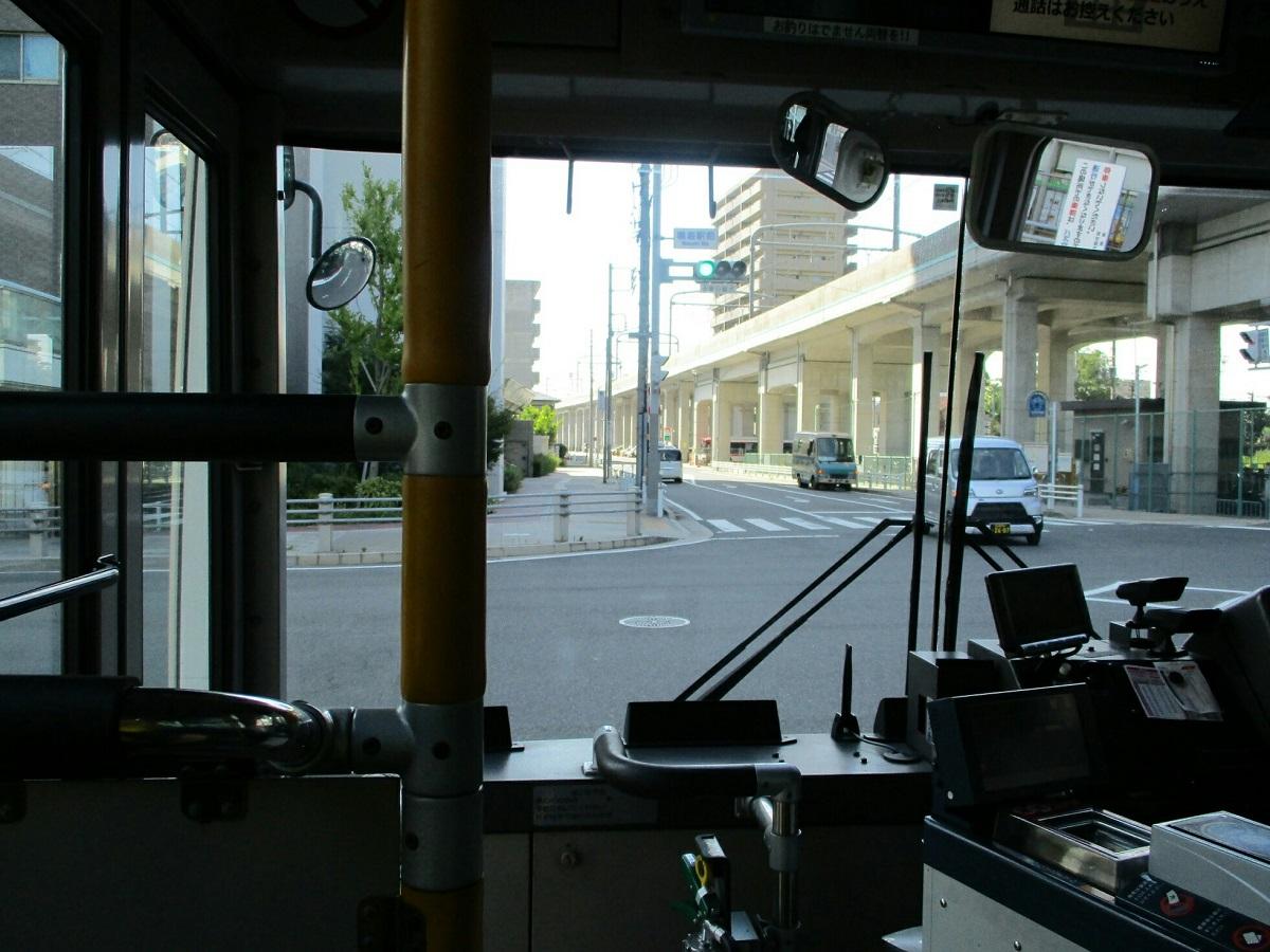 2018.7.21 (29) イオンモール大高いきバス - 鳴海駅前交差点を左折 1200-900
