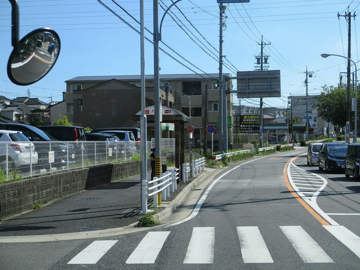 2018.7.21 (34) イオンモール大高いきバス - 市バスの平部(ひらぶ)バス停 1200-900