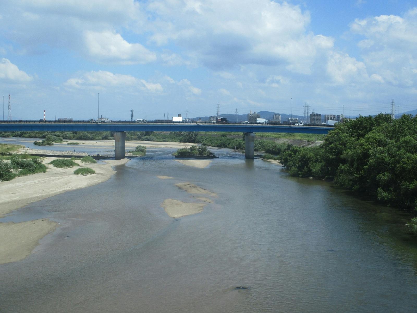 2018.7.31 (7) 東岡崎いきふつう - 矢作川をわたる 1600-1200