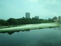 2018.8.7 (10) 東岡崎いきふつう - 菅生川をわたる 1600-1200