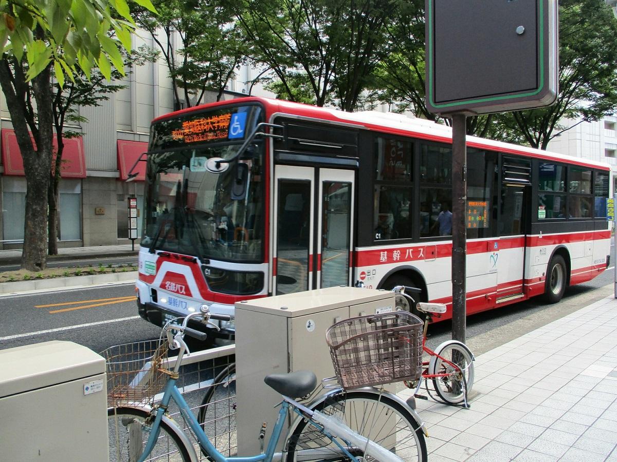 2018.8.22 (6) 松坂屋前バス停 - 愛知医科大学病院いきバス 1200-900