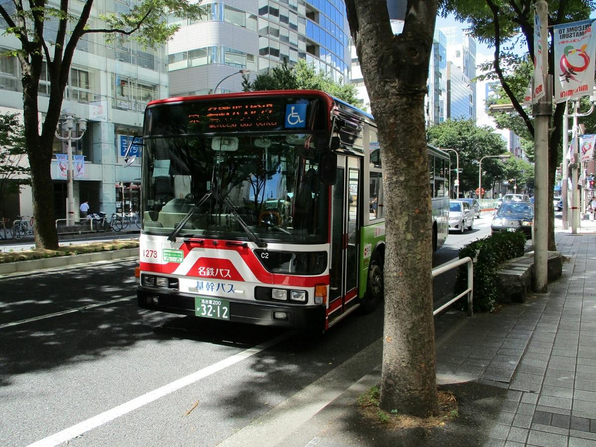 2018.8.22 (7) 松坂屋前バス停 - 名鉄バスセンターいきバス 1200-900