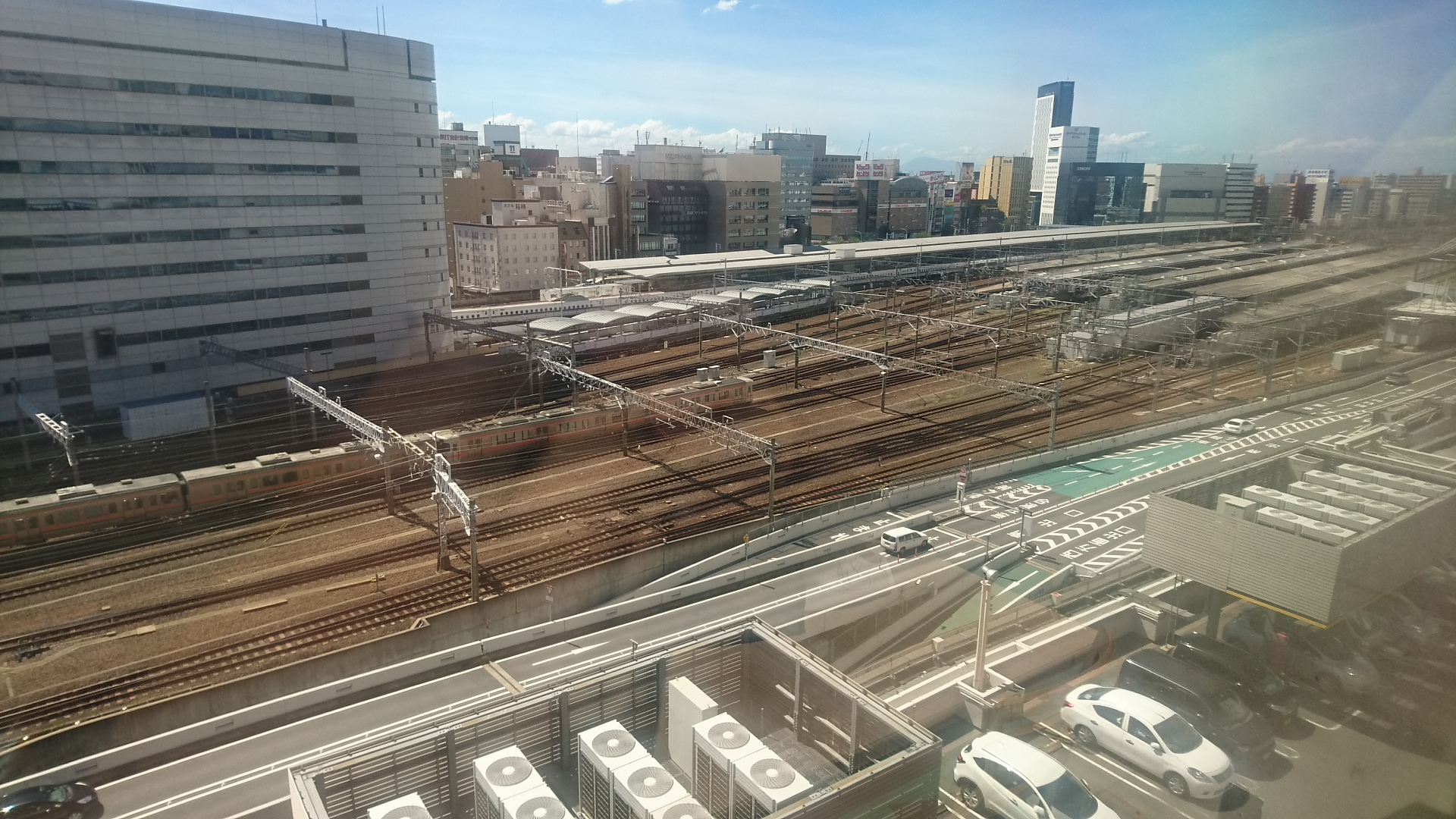2018.8.22 (10あ) 名鉄バスセンターからJR名古屋駅をみおろす 1920-1080