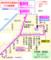 岐阜市芥見地区のバス路線図(路線図ドットコム) 380-450