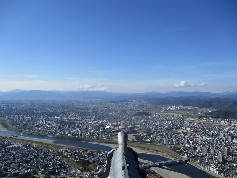 2018.11.7 (76) 岐阜城から四方をのぞむ(にし) 2000-1500