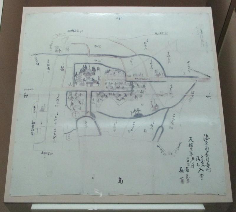 2018.11.12 (83) 甚目寺民俗資料館 - 甚目寺村絵図(1841年) 1910-1720