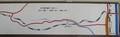 2018.11.17 (71) 田口線モハ14 - 田口線路線図 8.本長篠 1970-610