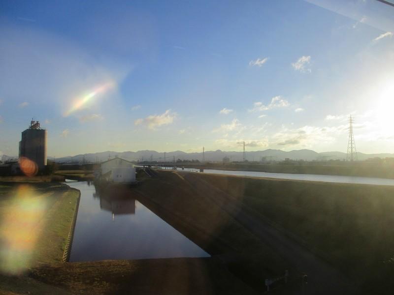 2018.12.14 (12) 豊橋いき特急 - 豊川放水路をわたる 1800-1350