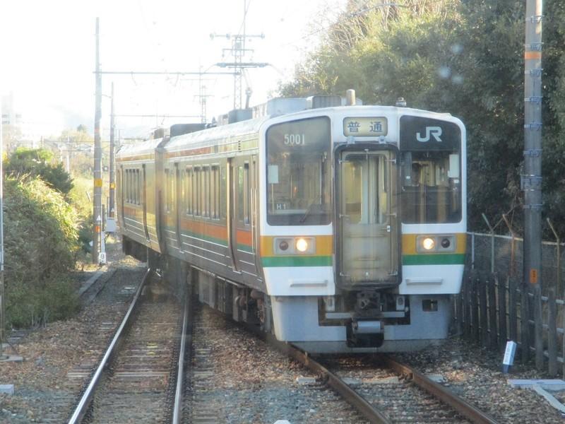 2018.12.14 (42) 天竜峡いきふつう - 野田城(はんたい電車) 1800-1350