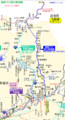 豊鉄バス田口新城線の路線図(2018.12.14現在) 555-1023