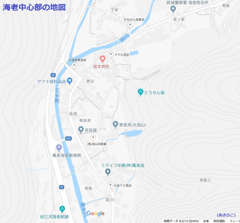 海老中心部の地図(2018.12.14現在) 820-760