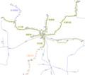 美濃電気軌道の路線図(ヰキペディア) 800-707