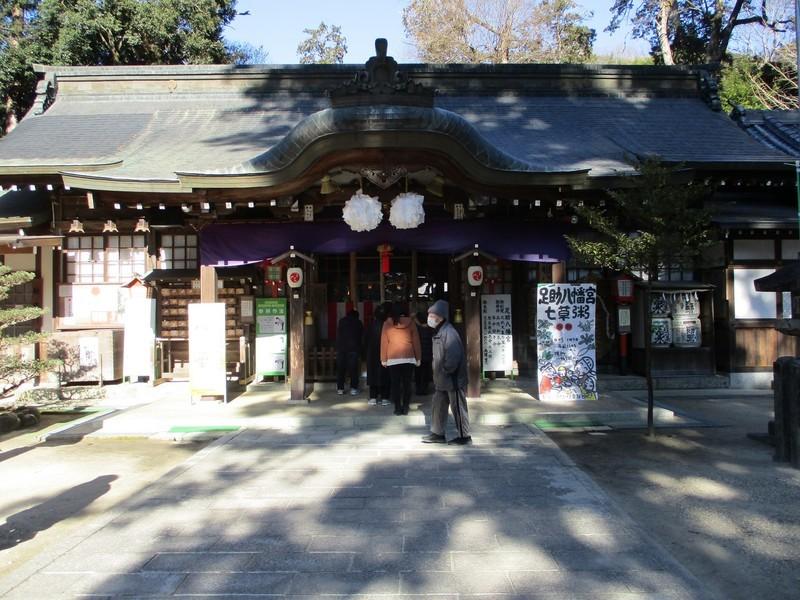 2019.1.7 (51) 足助八幡宮 - 拝殿 2000-1500