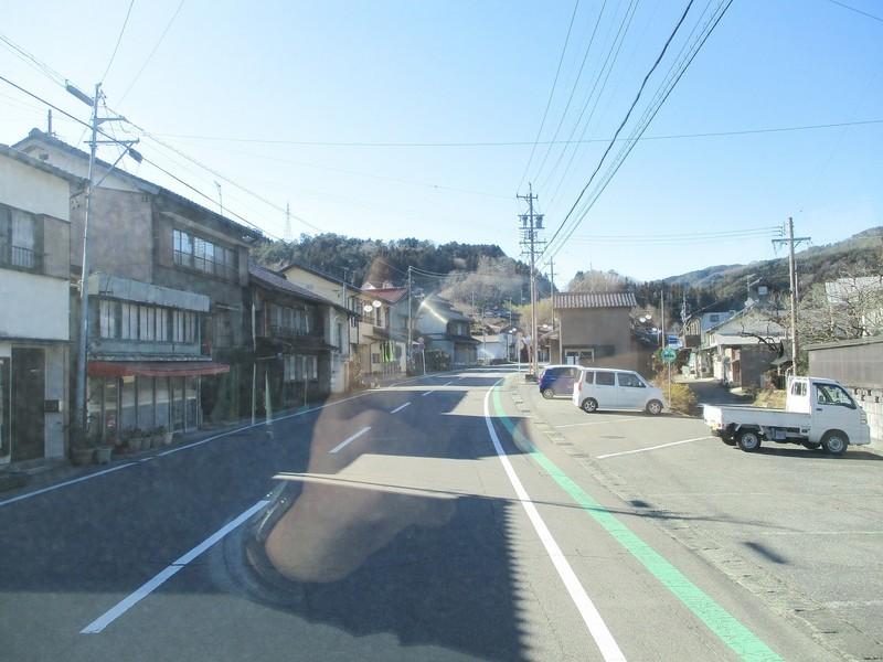 2019.1.7 (68) どんぐりの湯前いきバス - 武節のまちなみ 1600-1200