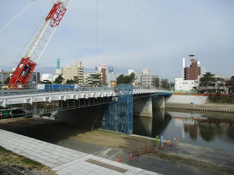 2019.1.15 (9) 乙川人道橋 - 南岸ひがしから 2000-1500