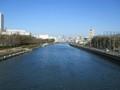 2019.1.16 (38) 熱田記念橋から堀川をみる(かみ) 2000-1500