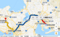 ふるいから石生までの経路図 550-340