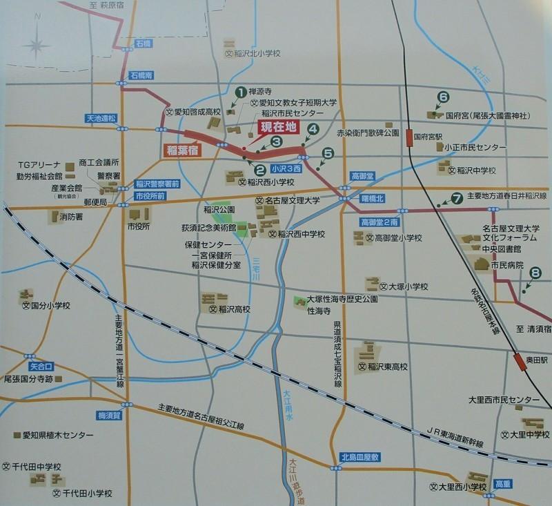 2019.2.17 (8) 稲葉宿 - 地図 1610-1475