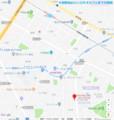 牛田駅からロンロネオカフェまでの地図 720-760