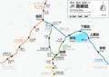 辰野支線の路線図(ヰキペディア) 800-566