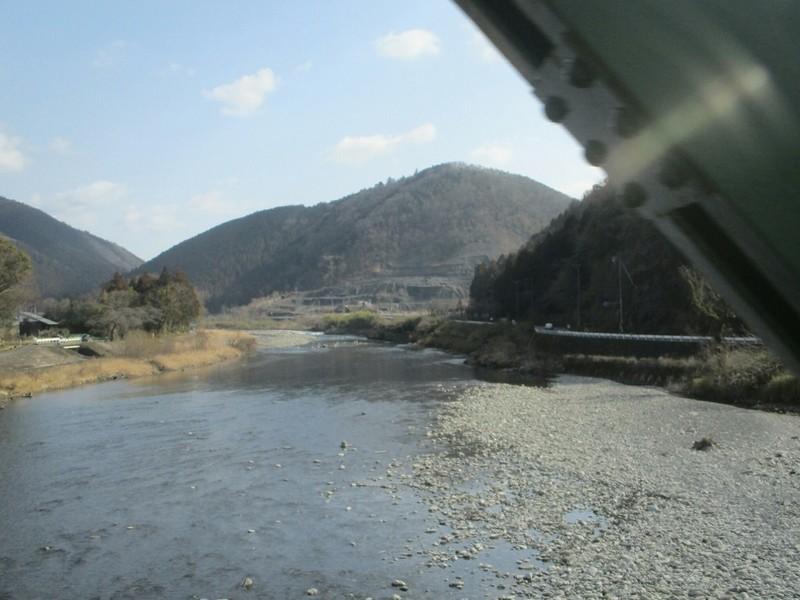 2019.3.1 (63) 樽見いきふつう - 第1根尾川鉄橋 1200-900
