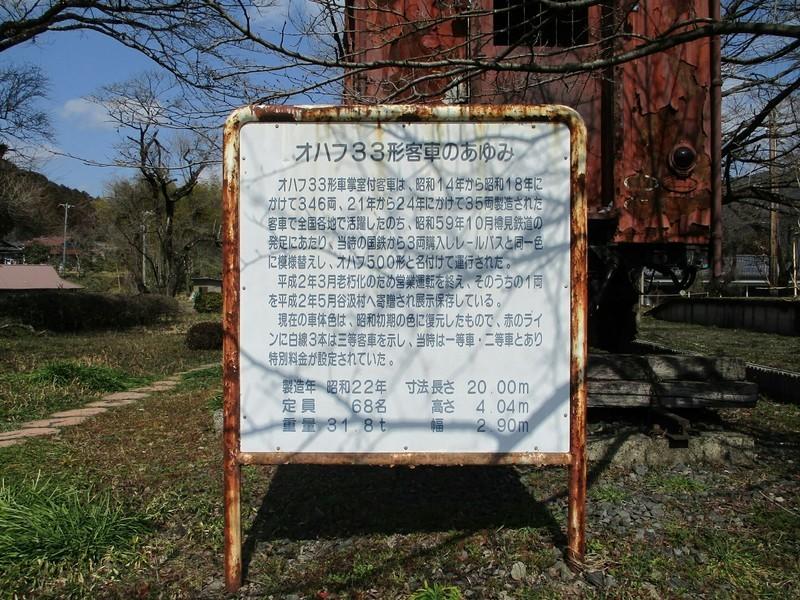 2019.3.1 (134) 谷汲口 - オハフ33がた客車(説明がき) 1600-1200
