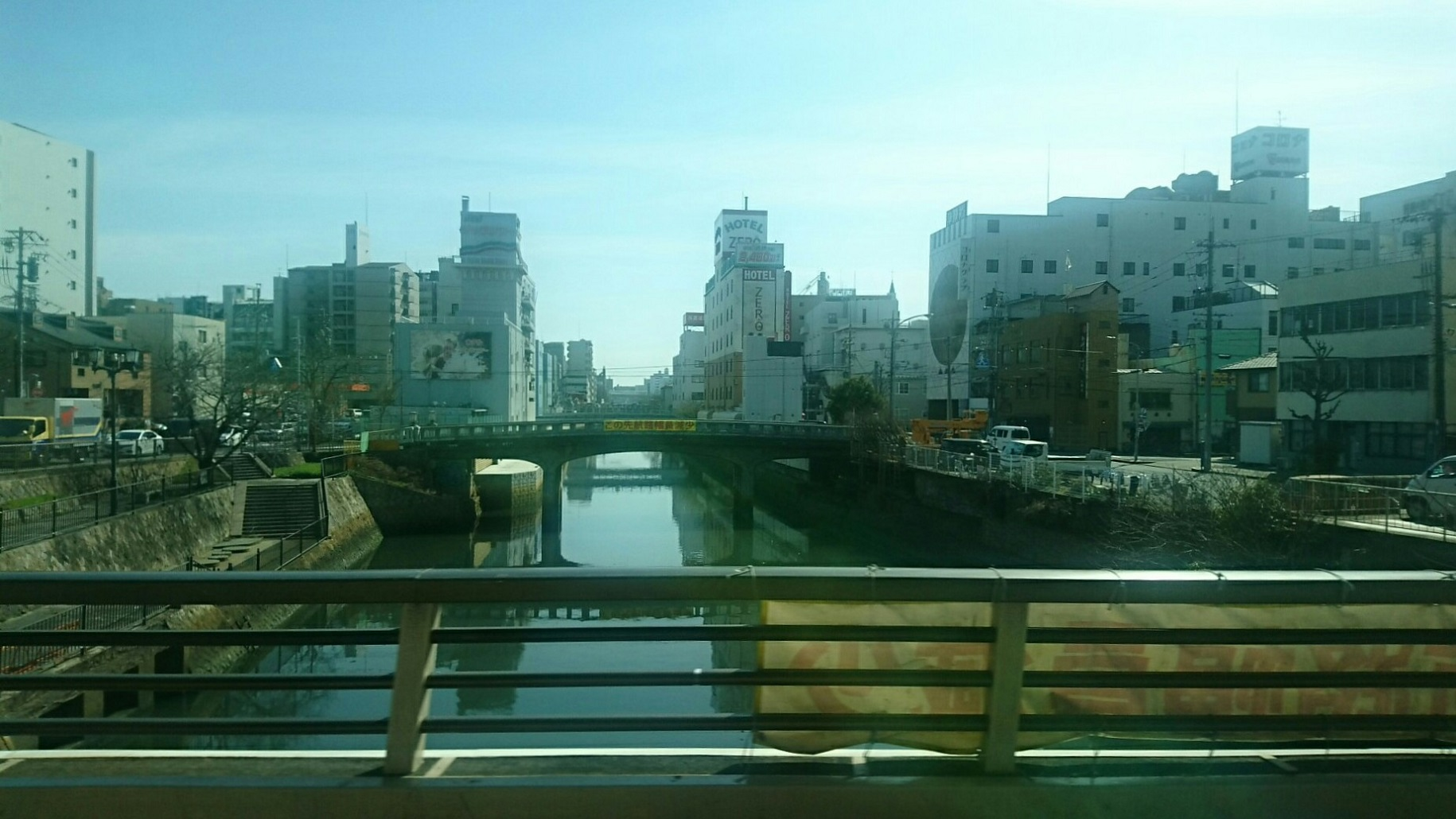 2019.3.5 13:43 名鉄バスセンターいきバス - 堀川をわたる 1830-1030